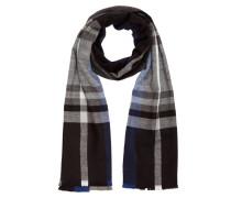 Schal schwarz / grau / weiß / blau