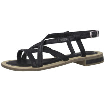 Sandale 'Strappy' schwarz