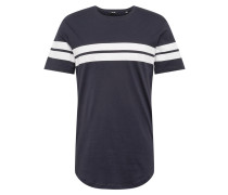 Shirt 'bike' navy / weiß