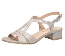 Klassische Sandaletten silber