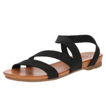 Sandale 'Dena' beige / schwarz