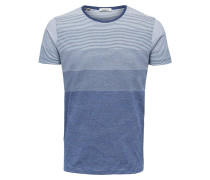 T-Shirt royalblau / weiß