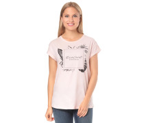 T-Shirt 'Palm Beach' anthrazit / rosa