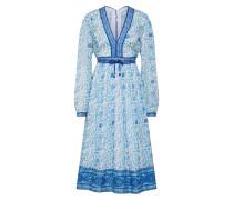Kleid blau / türkis / weiß