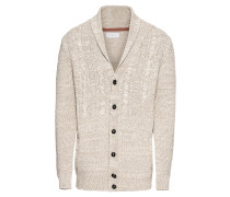 Strickjacke 'btn shawl cdg' beige
