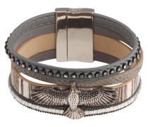 Armband 'Eagle' grau / silber