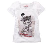 Shirt braun / rot / weiß