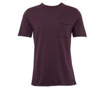 T-Shirt 'raw Edge' pflaume