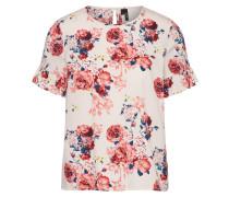 Blusenshirt dunkelblau / rosa / rostrot