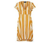 Kleid senf / weiß