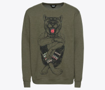 Sweater 'Senetor' khaki / schwarz