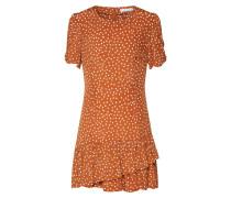 Kleid 'Monza' braun / weiß