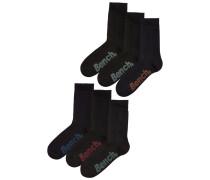 Socken schwarz / blau / grün
