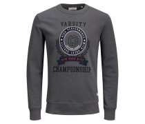 Varsity Print Sweatshirt grau