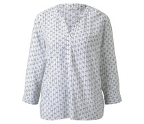 Gemusterte Bluse weiß / blau