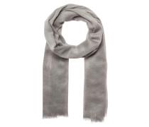 Woll-Schal mit Metallic-Look hellgrau