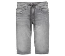 Hose 'slim shorts' grey denim