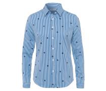 Bluse nachtblau / royalblau / weiß