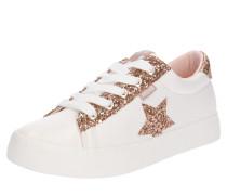 Sneaker 'roll' rosegold / weiß