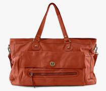 Tasche Leder-Reisetasche rostrot