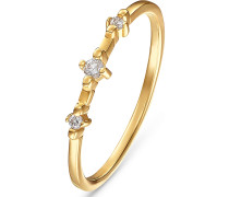 Ring 60120196 gold / weiß