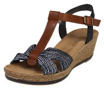 Sandale im Retro-Look blau / braun