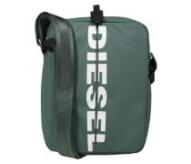 Tasche 'Boldmessage' grasgrün / weiß