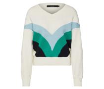 Pullover 'oceane' blau / grün / weiß