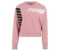 Sport-Sweatshirt rosa / schwarz / weiß