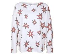 Sweatshirt 'devore' pastellrot / weiß