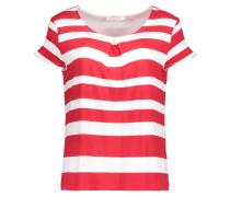 Shirt mit Blockstreifen rot / weiß