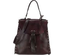 Handtasche dunkelrot