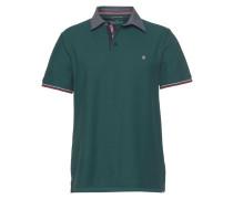 Poloshirt blaumeliert / dunkelgrün
