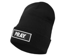 Beanie 'Pray' schwarz / weiß