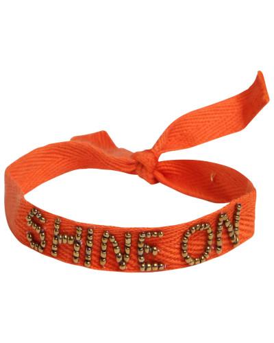 Armbändchen 'Message' orange