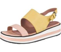Sandalen gelb / hellpink