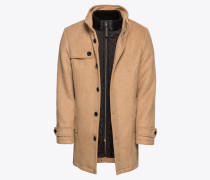 Mantel 'wool blend coat 2 in 1' sand
