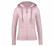 Fleecejacke grau / rosa