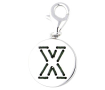 Charm Letter Fabric 'X' silber