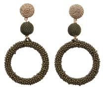 Ohrringe gold / oliv