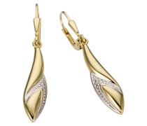 Ohrhänger gold / weiß