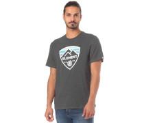 T-Shirt hellblau / anthrazit / naturweiß
