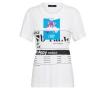 T-Shirt 't-Godie' aqua / schwarz / weiß