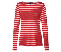 Shirt 'Striped Active' rot / weiß