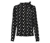 Bluse mit Sternmuster schwarz