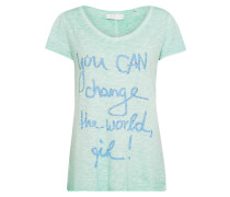 T-Shirt hellblau / mint