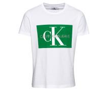 Poloshirt grün / weiß