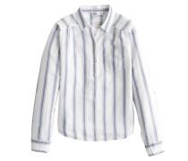 Bluse 'popover' hellblau / weiß