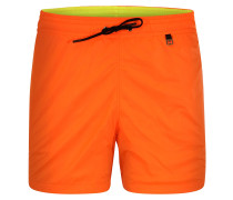 Badeshorts 'Sunlight' orange / schwarz