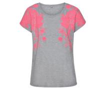Strandshirt graumeliert / neonpink